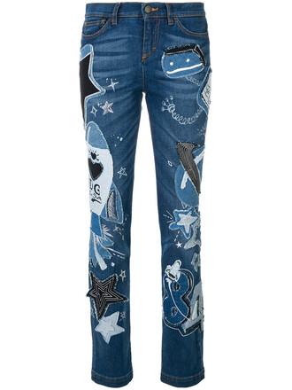 jeans girly women spandex fit cotton blue