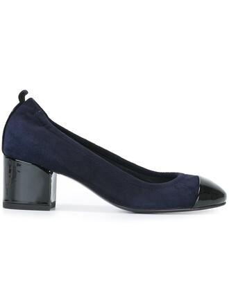 heel pumps blue shoes
