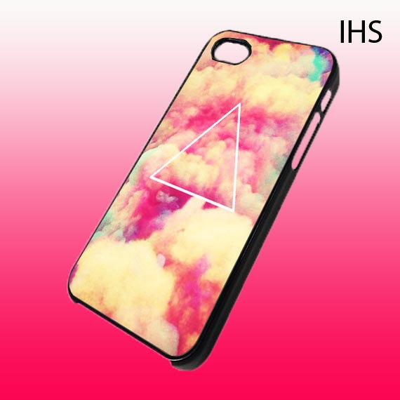 Hipster triangle pastel custom for iphone 4/4s by ladiestaa