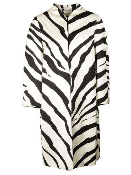 lanvin coat zebra print zebra print