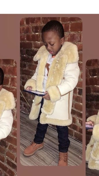 Coat: kids sheepskin coat - Wheretoget