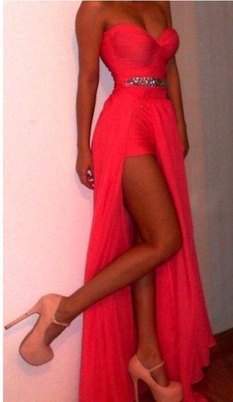 dress prom dress prom gown long prom dress short prom dress high heels high low prom dresses coral dress strapless dresses pink prom dress