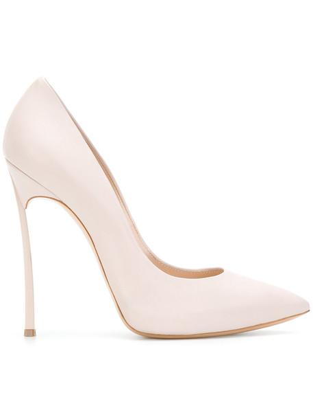 CASADEI women pumps leather nude shoes