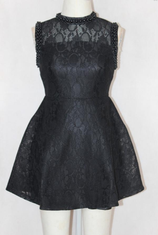 black dress lace dress