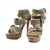 UK Cheap Christian Louboutin Toutenkaboucle 150 Suede Buckle Sandals Grey - discounthighheels.net