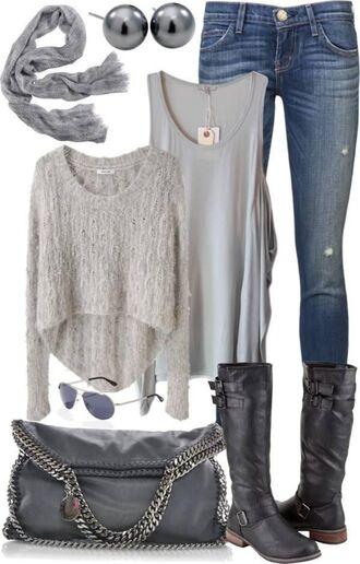 sweater pinterest knitted sweater knitwear style grey