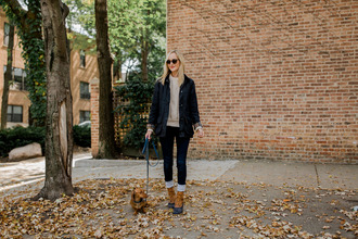 kelly in the city - a preppy chicago life style and fashion blog blogger shoes jacket jeans sweater duck boots fall outfits