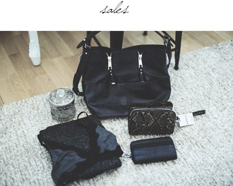 room91 blogger bra snake print black bag oysho