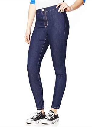 Midnight Sea Roller Jegging - Roller Ultra High Waist Jeggings - Garage