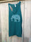 Yoga embroidered elephant / emerald racerback tank / embroidered yoga clothes
