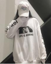sweater,white,sweatshirt,tumblr