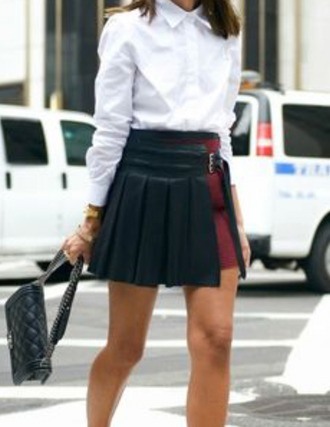 skirt red black leather wine red skirt wine red black leather skirt black leather