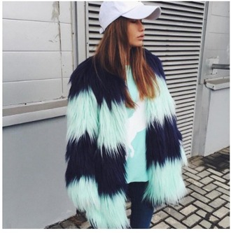 coat girl girly girly wishlist tumblr fur fur coat blue