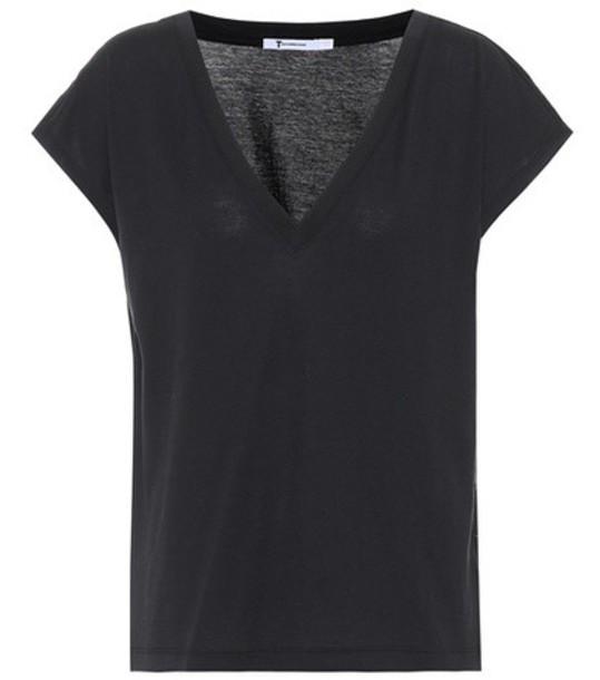 T by Alexander Wang t-shirt shirt cotton t-shirt t-shirt cotton black top