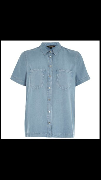 shirt denim shirt button up boxed