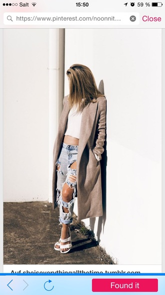 cardigan jeans t-shirt shoes