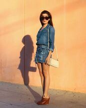 skirt,shirt,denim,shoes,bag