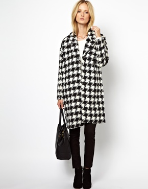Selected | Selected Hiro Coat in Origami Dogstooth at ASOS