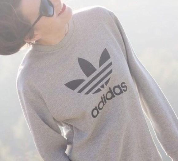 top sweater logo adidas sportswear adidas sweatshirt