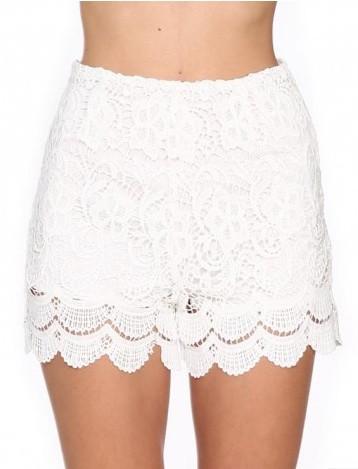"""Chic """"white crochet"""" laces shorts – glamzelle"""