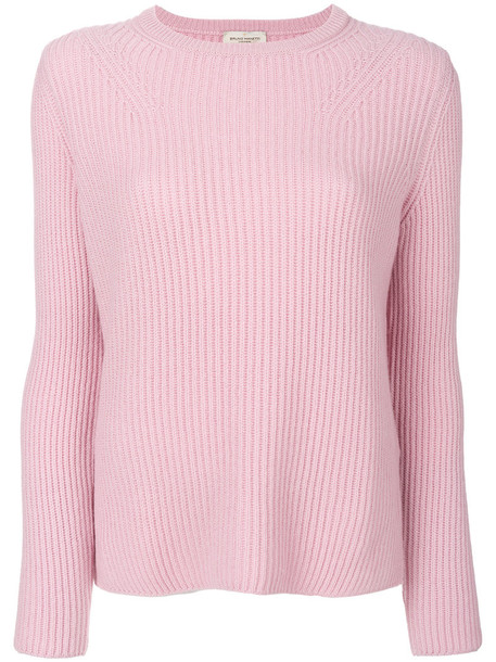 Bruno Manetti - cashmere long sleeved sweater - women - Cashmere - 44, Pink/Purple, Cashmere