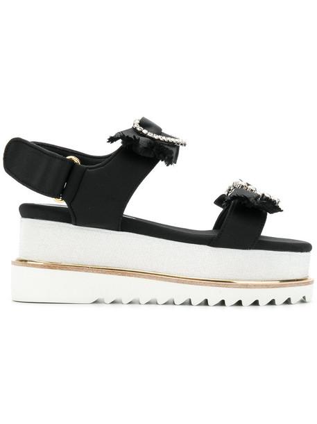 Suecomma Bonnie women sandals black shoes