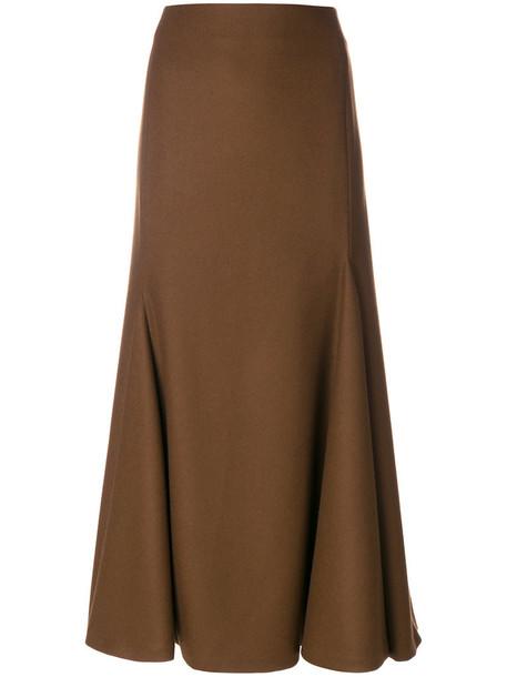 Jil Sander skirt women midi wool brown