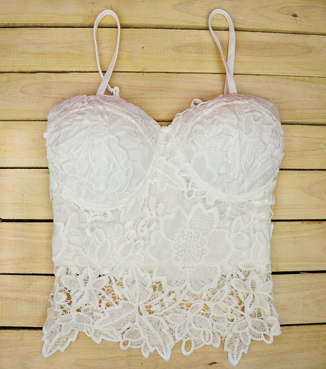 Crop Top Lace Bustier
