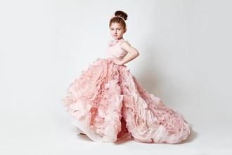 dress wedding dress light pink dress floral dress elegant dress kids fashion