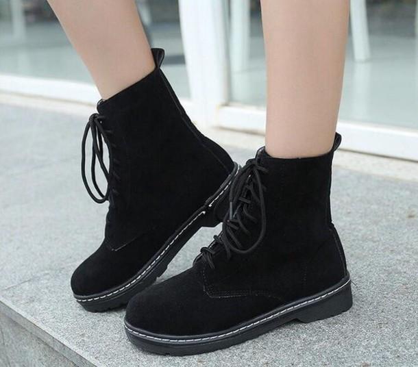 shoes black suede velvet boots black boots black booties nastygal DrMartens 3df4dc8d0