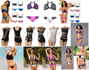 2014 New Sexy Hit Color Bodycon  Bikini Triangle Bodycon Swimsuit Rubber Bikini Fashion Zipper Gauze Stitching Swinwear-in One Pieces from Apparel & Accessories on Aliexpress.com
