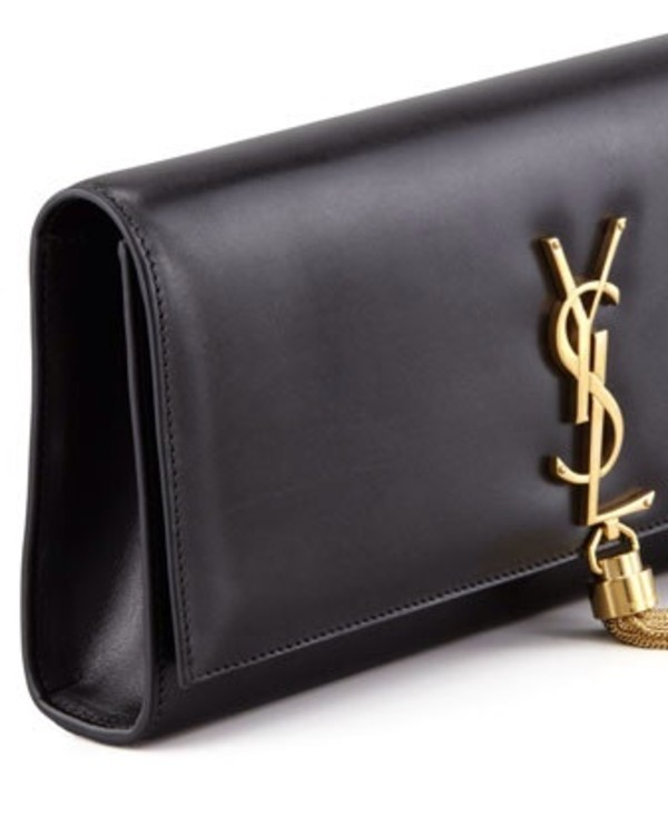 Saint Laurent CLASSIC MONOGRAM SAINT LAURENT TASSEL CLUTCH IN ...