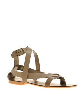 Oasis simple strappy sandals at asos.com