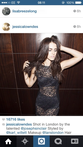 dress jessica lowndes lace dress