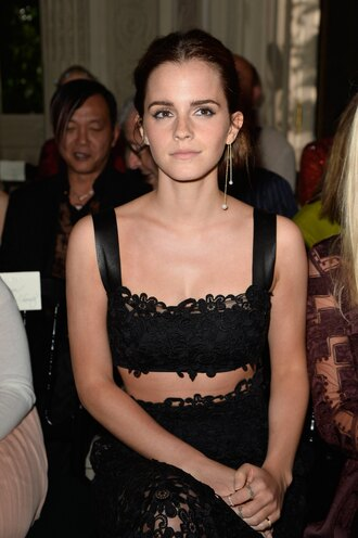 jewels earrings emma watson crochet