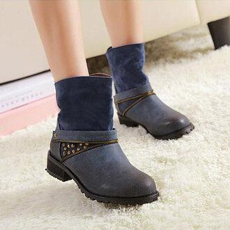 shoes boot retro zip