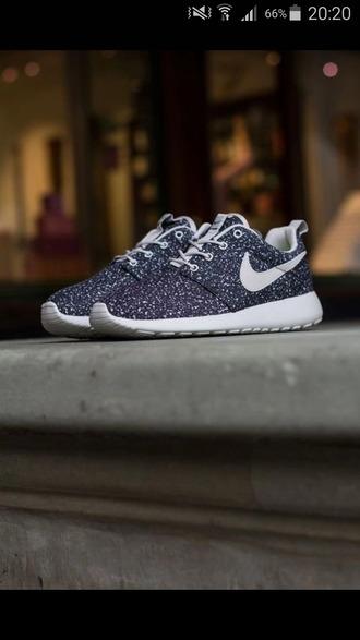 shoes nike roshe run running shoes nike running shoes nike shoes nike sneakers blue nike sneakers blue galaxy print dots