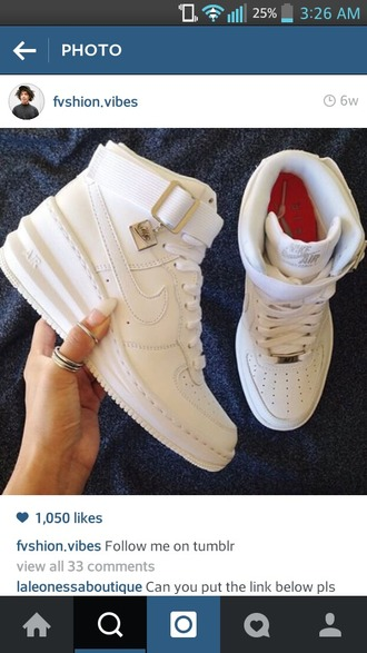 shoes nike nike airforce nike womens nike lunar force 1 all white everything wedges cute style