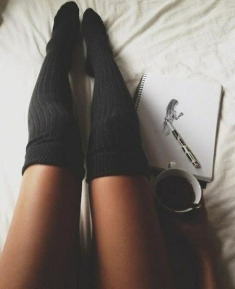 stockings socks black