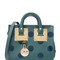 Sophie hulme mini box tote bag - forest green/midnight navy