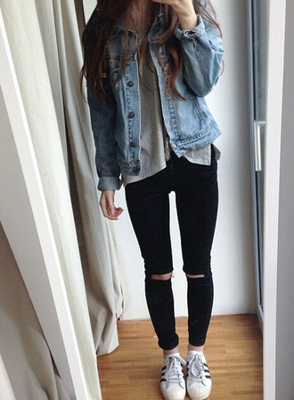 leggings denim jeans jewelry ripped jeans black jeans high waisted jeans skinny jeans boyfriend jeans blue jeans white ripped jeans black grunge hipster streetwear streetstyle outfit outfit idea fall outfits tumblr outfit winter outfits cute outfits date outfit urban outfitters lookbook natural look lookbook store