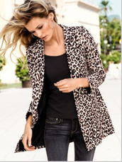 coat,top,blazer,women's coats,leopard print
