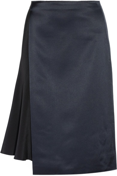 3.1 Phillip Lim | Wrap-effect silk and satin skirt | NET-A-PORTER.COM