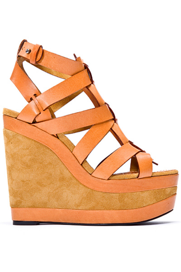 wedges two tone shoes