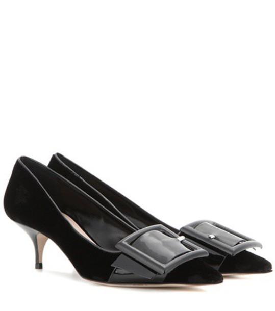 Miu Miu heel pumps velvet black shoes