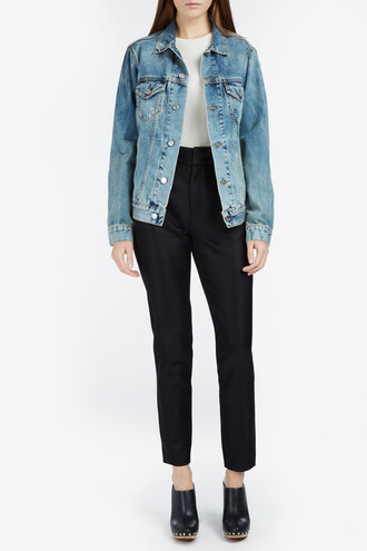 jacket denim jacket denim women blue