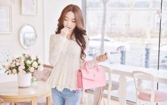 bag pink bag outfit cute handbag purse pink pink purse hipster fashion fetch mean girls ulzzang pink handbag shirt