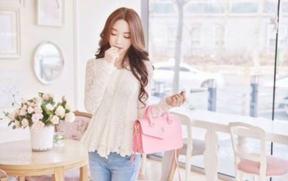 pink bag pink bag purse outfit cute handbag pink purse hipster fashion fetch mean girls ulzzang ulzzang fashion pink handbag shirt
