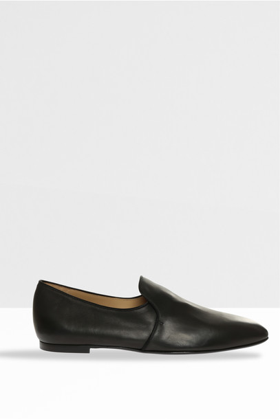 The Row Women`s Alys Stacked Slippers in black