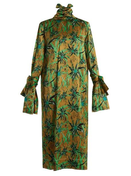 MARNI dress midi dress long midi print green